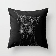 The Curious Expressions of Dogs Throw Pillow
