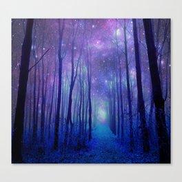 Fantasy Path Purple Blue Canvas Print