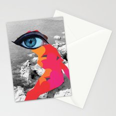 SiLuEtte 1 woman Stationery Cards