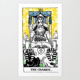 Floral Tarot Print - The Chariot Art Print