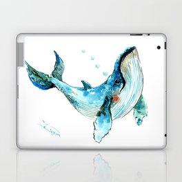 Humpback Whale Artwork Children Illustration Cute little Whale, whale design Laptop & iPad Skin