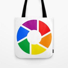 Gay Pride Flag Circle Tote Bag