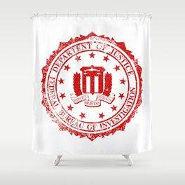 FBI Rubber Stamp Shower Curtain