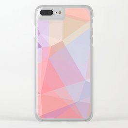 Powder Geometry - bright Clear iPhone Case