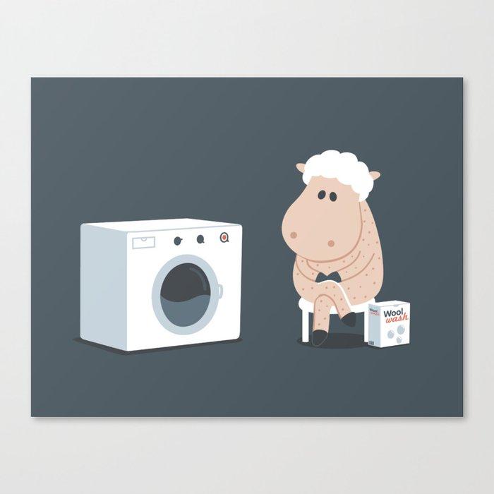 Wool wash Canvas Print