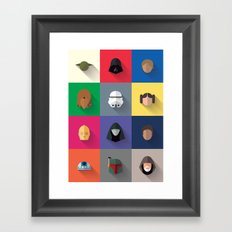 Icon Set Minimalist Poster Framed Art Print