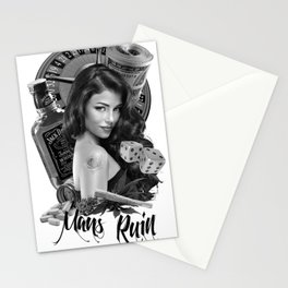 mans ruin Stationery Cards