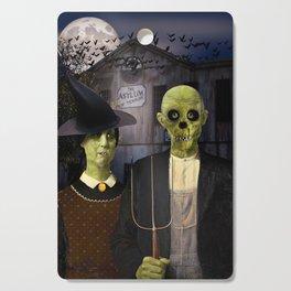 American Gothic Halloween Cutting Board