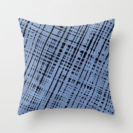 1950s Blue Abstract Lines Throw Pillow