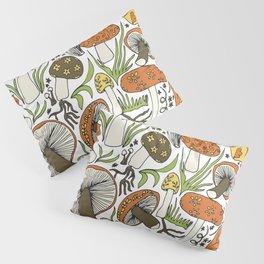 Hand-drawn Mushrooms Pillow Sham