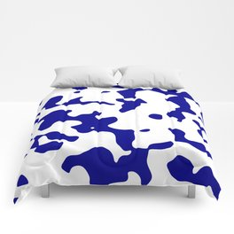 Large Spots - White and Dark Blue Comforters
