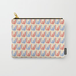 Hand Written Letter W Pattern Carry-All Pouch