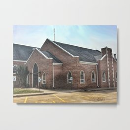 Christ Church Side Entrance in Moline, Illinois Metal Print