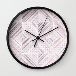 Herringbone Diamonds - Mauve Wall Clock