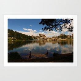 What A Beautiful Day At Sylvian Lake Art Print