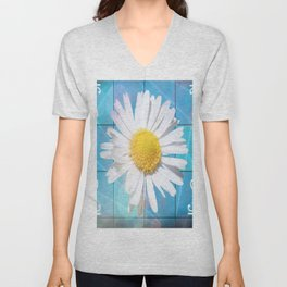 Large Daisey Unisex V-Neck
