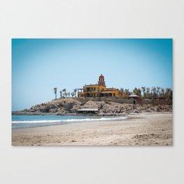 Beach House on the Hill Canvas Print