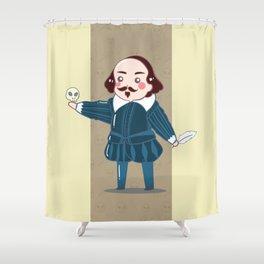 Cute History - Shakespeare Illustration Shower Curtain