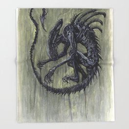 Xenomorph Throw Blanket