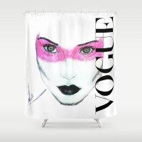 vogue Shower Curtains featuring Vogue by Maca
