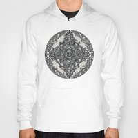 lace Hoodies featuring Charcoal Lace Pencil Doodle by micklyn