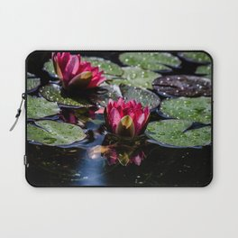 Two water lilies in the sunbeam Laptop Sleeve