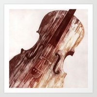 cello Art Prints featuring Cello by Adrianna Grężak