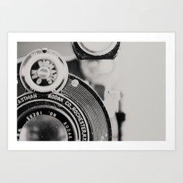 vintage kodak camera #1 Art Print