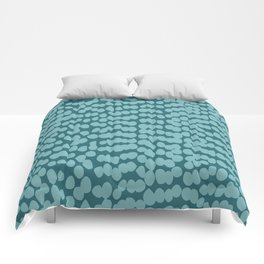 Tropical Abstract Dot Pattern, Teal Comforters