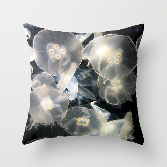 JellyFish Garden Throw Pillow