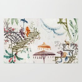 Enchanted Forest Chinoiserie Rug