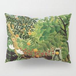 Henri Rousseau Exotic Landscape Pillow Sham