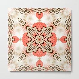 Kaleidoscope Guarded Rose Garden Print Metal Print
