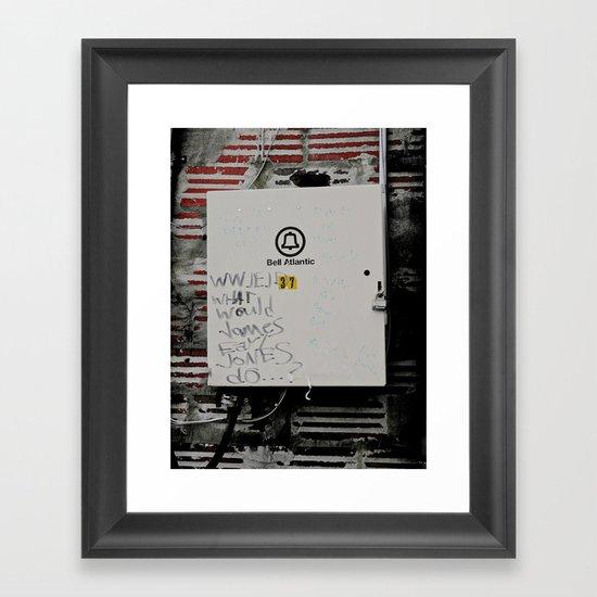 WWJEJD? Framed Art Print