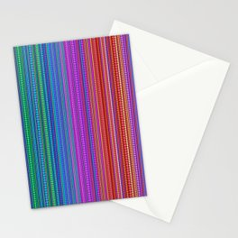 Abstract rainbow dots and lines Stationery Cards
