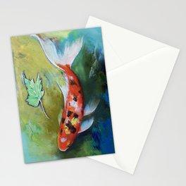 Zen Butterfly Koi Stationery Cards