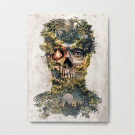 The Gatekeeper Surreal Dark Fantasy Metal Print