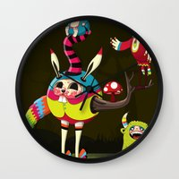 candy Wall Clocks featuring Candy by Teodoru Badiu