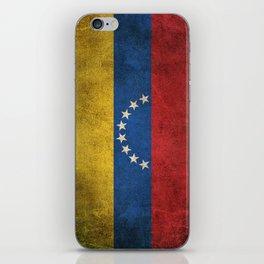 Old and Worn Distressed Vintage Flag of Venezuela iPhone Skin
