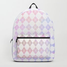Geometrical pink violet white watercolor abstract diamonds Backpack