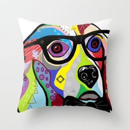Sophisticated Beagle Throw Pillow