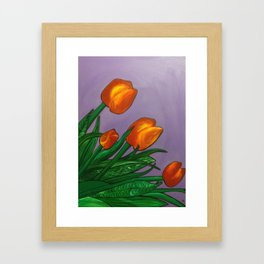 Bright Tulips Framed Art Print