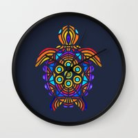 turtle Wall Clocks featuring Turtle by ArtLovePassion