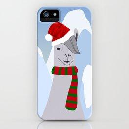 Hipster Santa Llama iPhone Case
