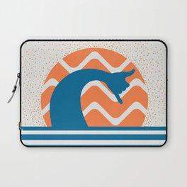 Hang Loose Wave // Sun Surfer Shaka Beach Retro Graphic Design Horizontal Daze Waves Laptop Sleeve