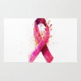 Breast Cancer Ribbon Rug