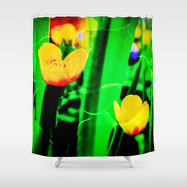 Flowers magic marsh Marigold Shower Curtain