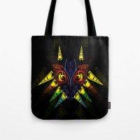 majora Tote Bags featuring MAJORA MASK majora mask by Veylow