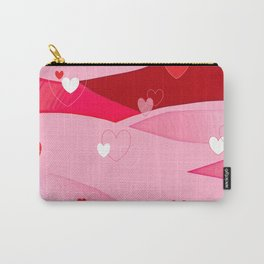 Hearts and Waves Carry-All Pouch