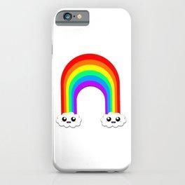 Happy Rainbow (Single On White) iPhone Case